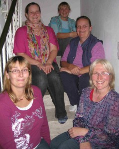 V.l.n.r.: Christine Böck-Schödel, Steffi Dahl, Claudia Mende, Renate Lossau, Maria Bernhard. Es fehlt Karin Litzel.